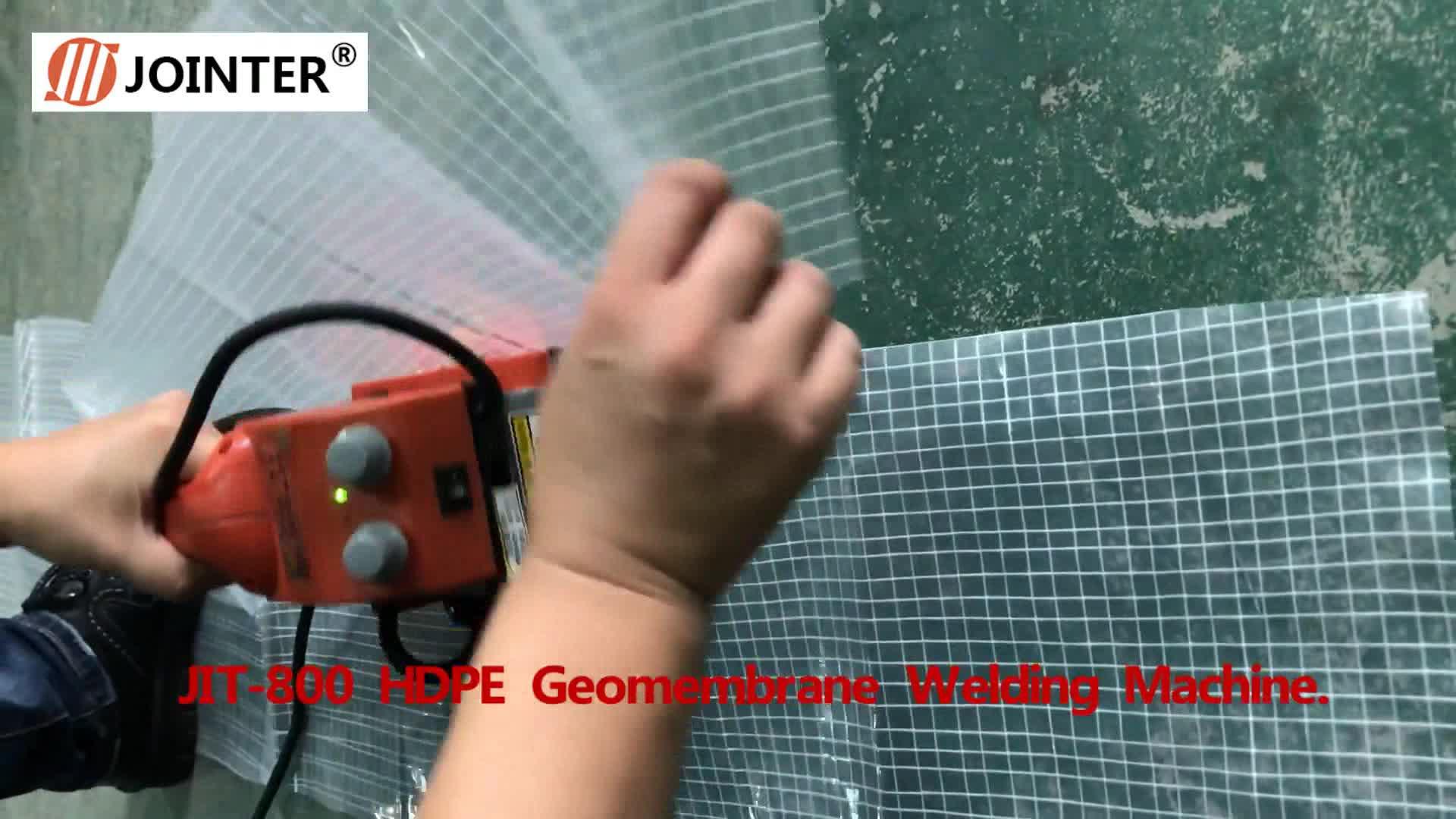 Jointer HDPE Plastic Membrane Welding Machine Hot Wedge Welding Machine
