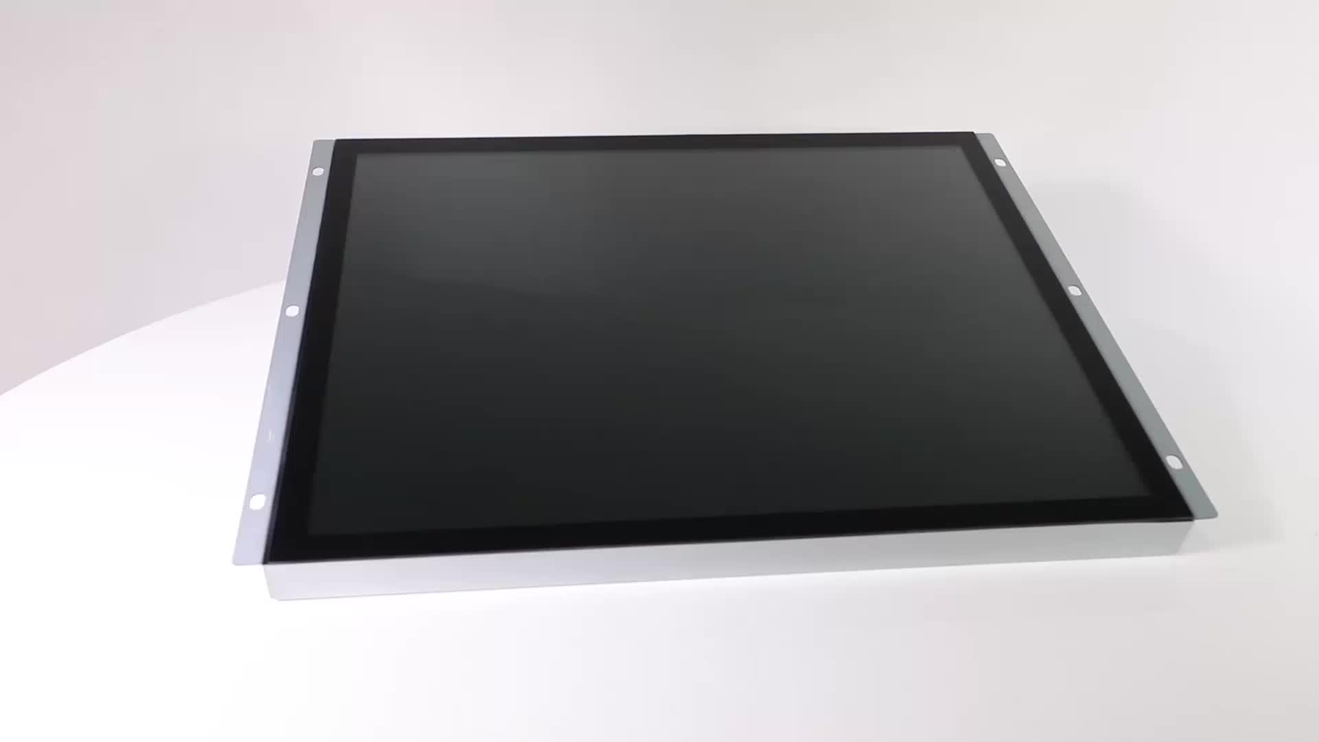 Polegadas touch screen display led interior tela de 15 encostos de cabeça monitor com usb