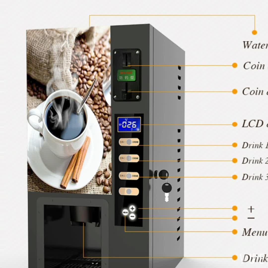 Monnayeur mini distributeur automatique de thé au café avec distributeur de gobelets