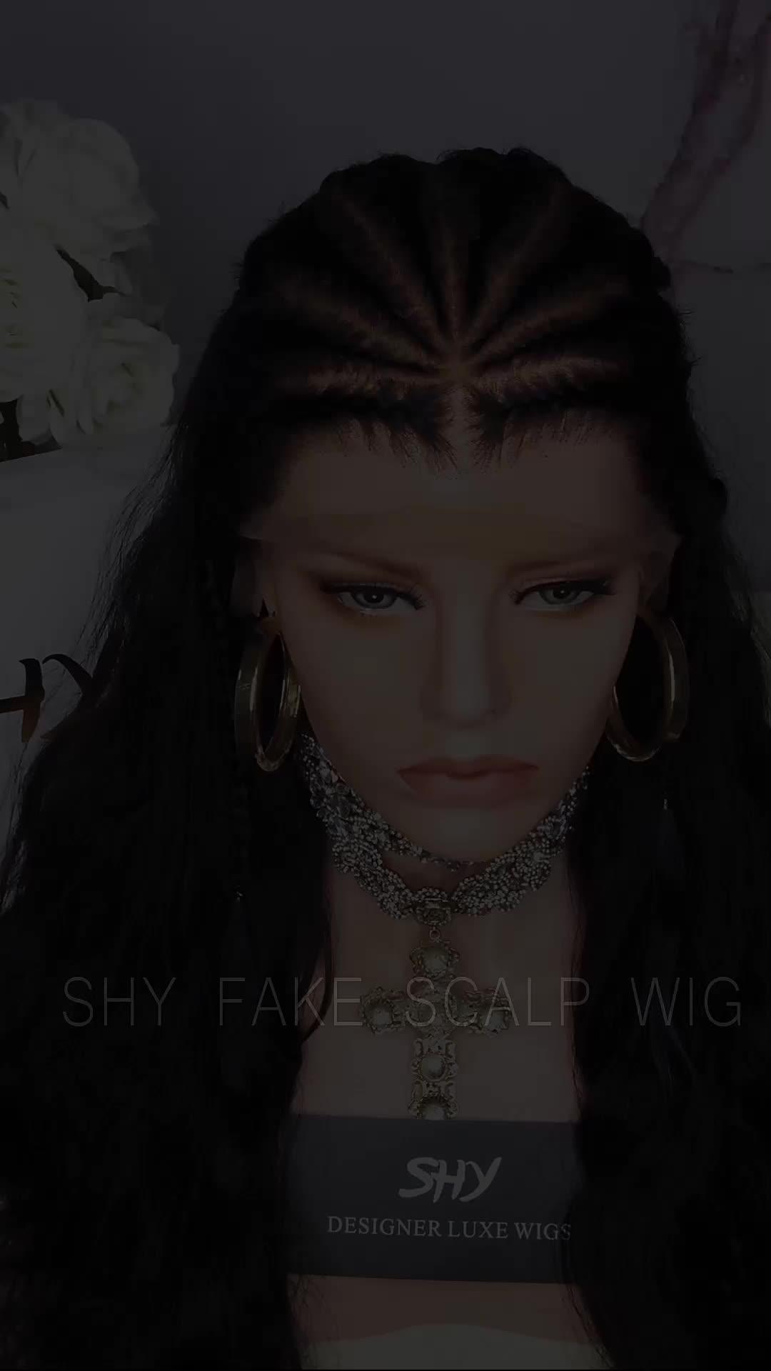 2019 Thiết Kế Mới 150% Mật Độ Duy Nhất Knot5.0 Tóc Giả Ngắt Giả Da Đầu Ren Knots Tẩy Trắng Tự Nhiên Chân Tóc 100% Tóc Con Người tóc Giả