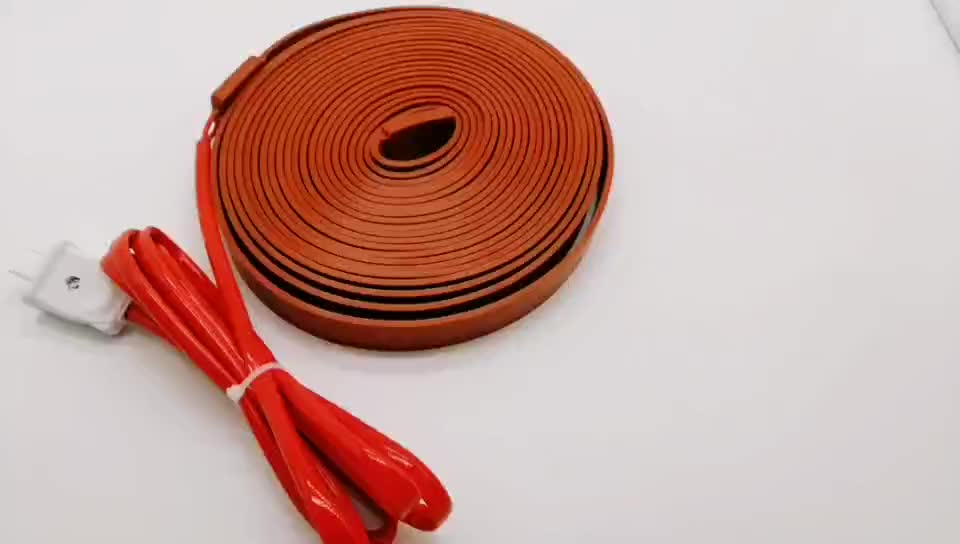 silicone rubber flexible heater belt with plug for pipe