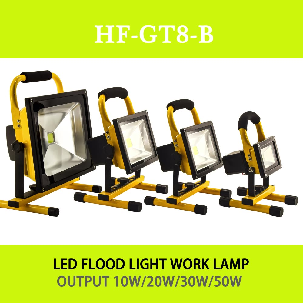 Rechargeable LED flood Light portable spotlight 10W night work fishing outdoor camping lamp