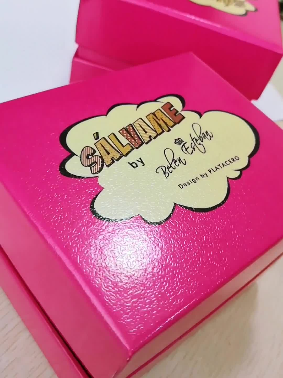 Custom simply design cheap necklace jewelry packaging gift box with logo