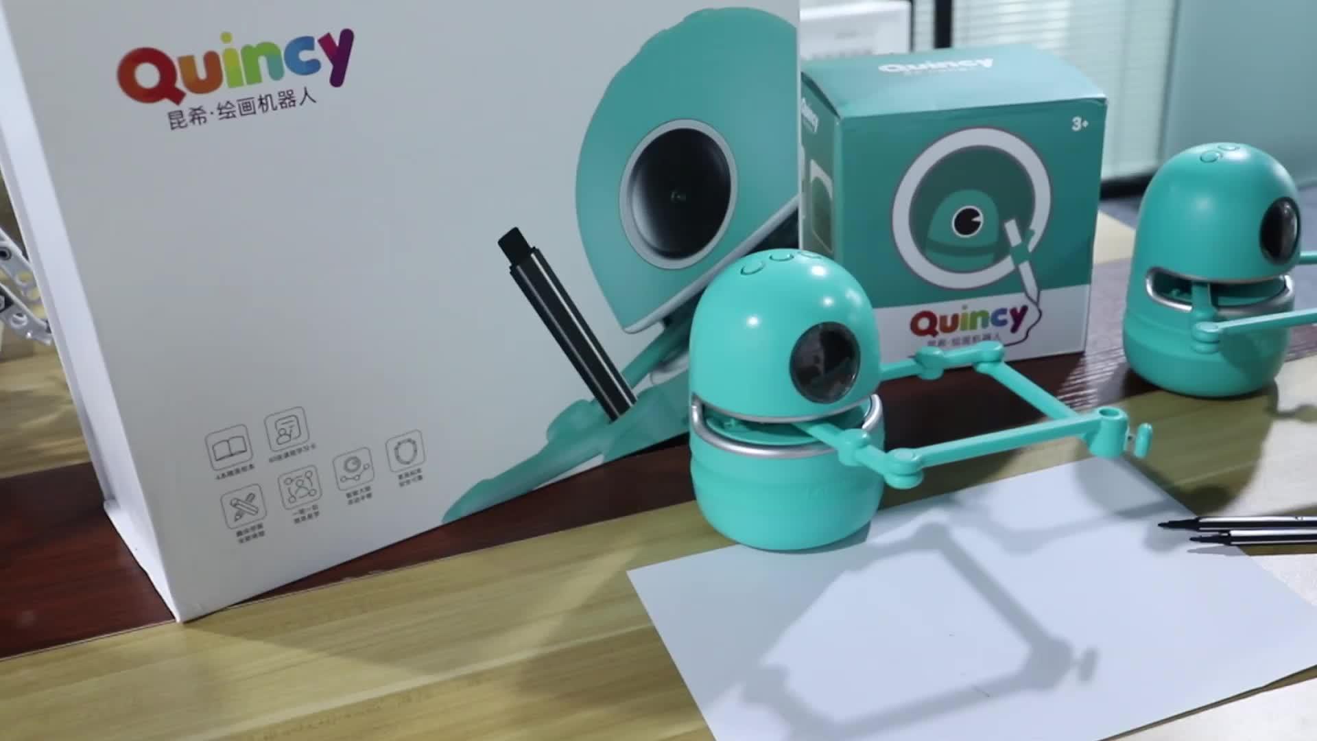 Popolare in età prescolare giocattolo pittura all'aperto robot giocattolo robot giocattolo robot a mano Quincy