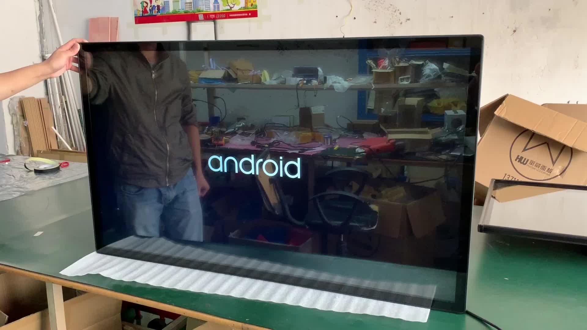 """ผนัง32 """"นิ้วLED TFT wifi Androidแสงแดดสามารถอ่านได้การแสดงผลโฆษณา"""