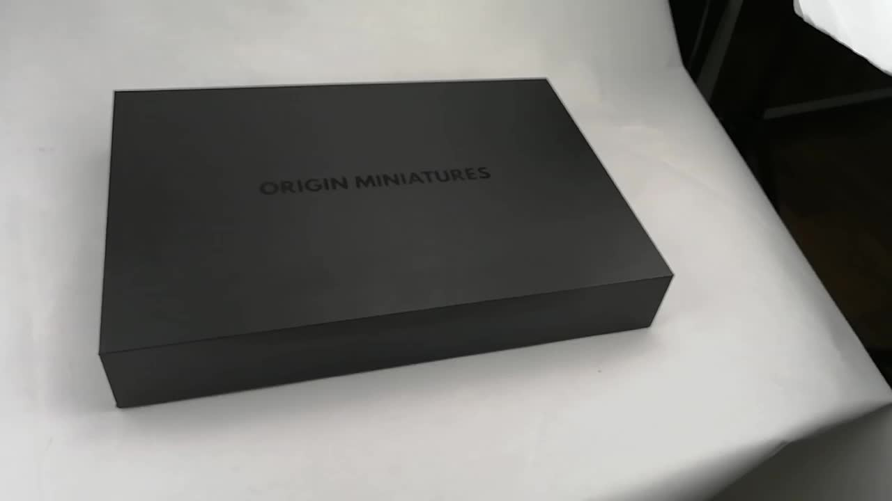 Luxury Custom Printed Product Packaging For Gift Pack Custom Black Cardboard Magnetic Gift Box