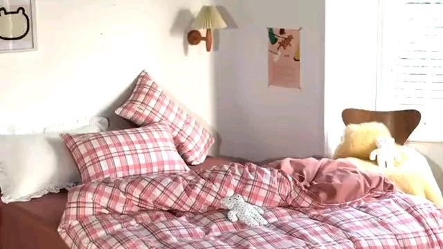 Einfaches modernes Bettwäsche set aus 100% Polyester