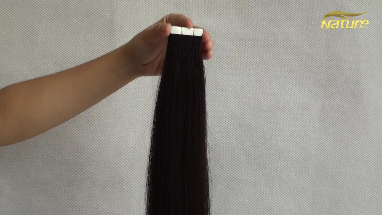 100 pure remy human tape hair extensions remy russian tape in hair extensions