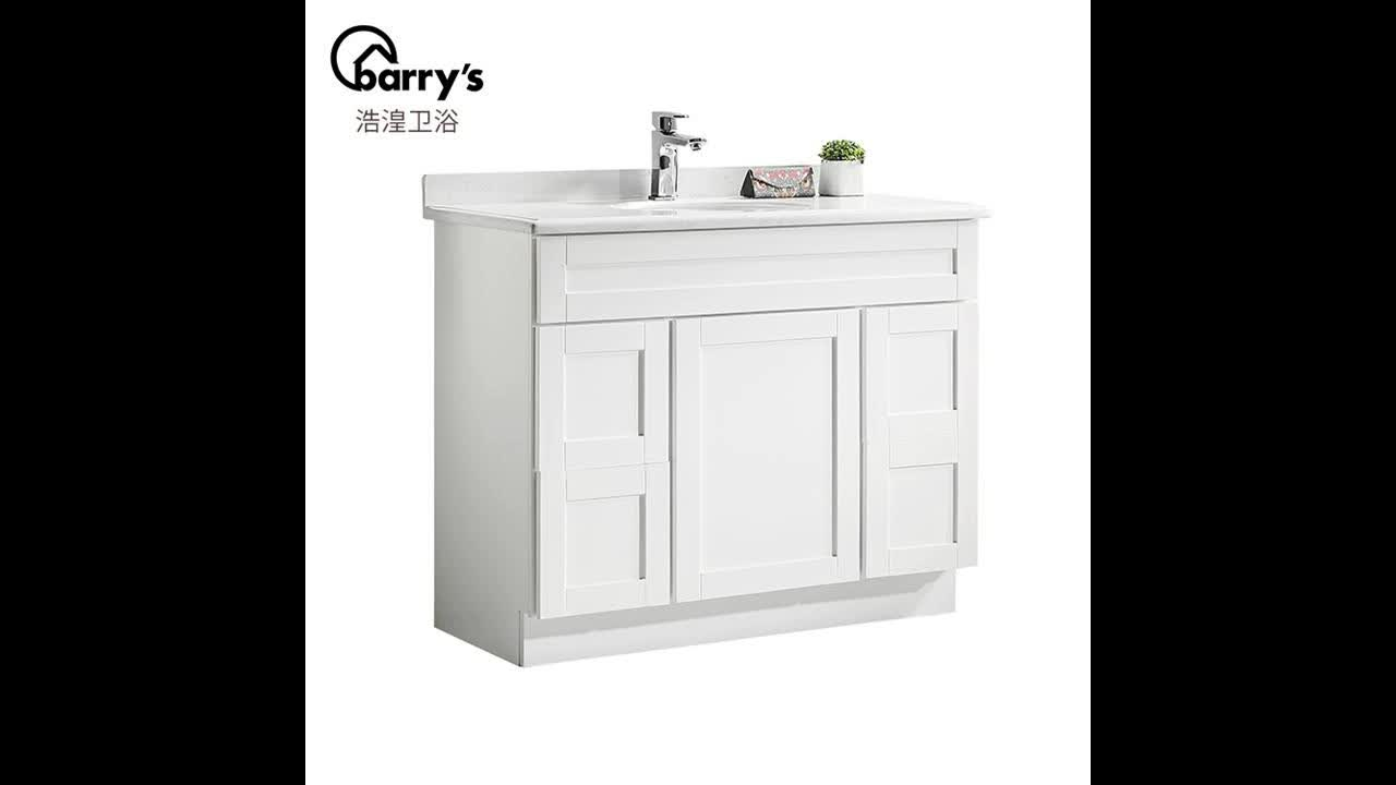 Customized Fancy Design Style Used Bathroom White Vanity