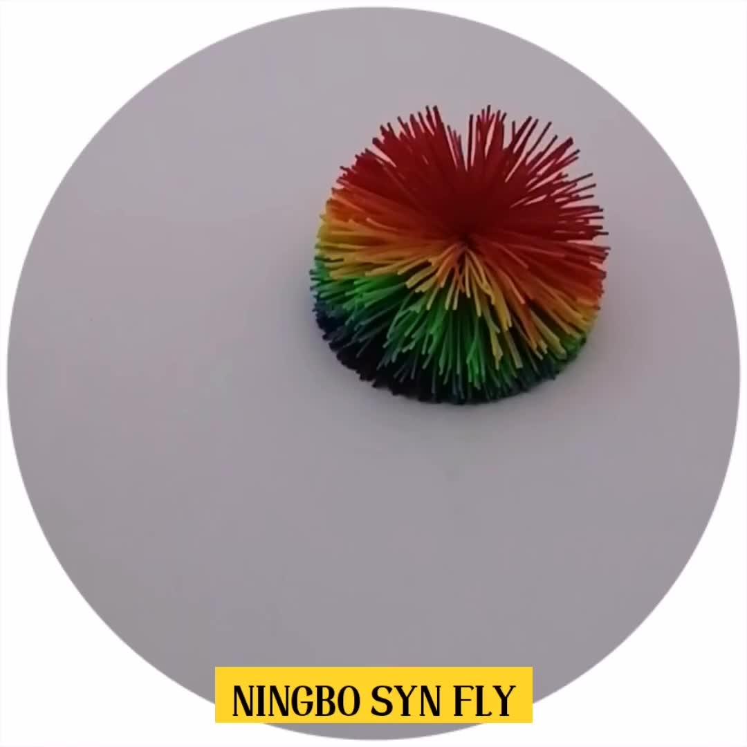 Vendas Hot 6.5 centímetros Multicolor Silicone Koosh Bolas de Brinquedo