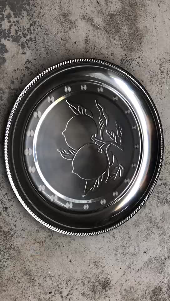Wholesale stainless steel tray 40cm Apple Tray