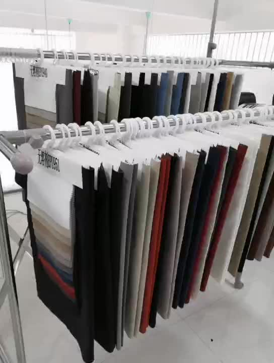flocked  breathable black PU synthetic leather fabric price for upholstery