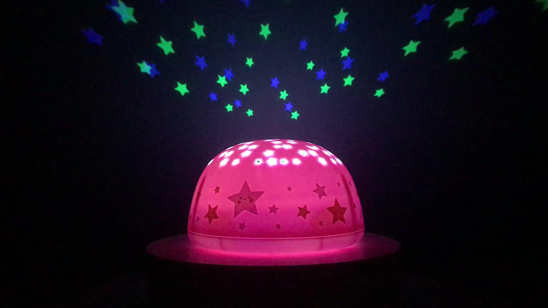 जहाज के लिए तैयार SomeShine गुलाबी स्टार संगीत बच्चे रात को प्रकाश स्टार प्रोजेक्टर