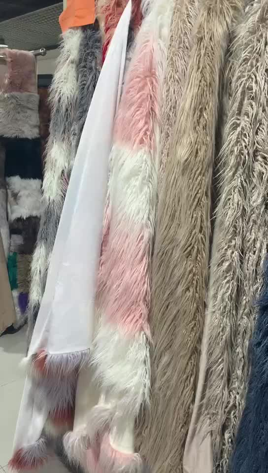 STABILE timber wolf faux fur throws