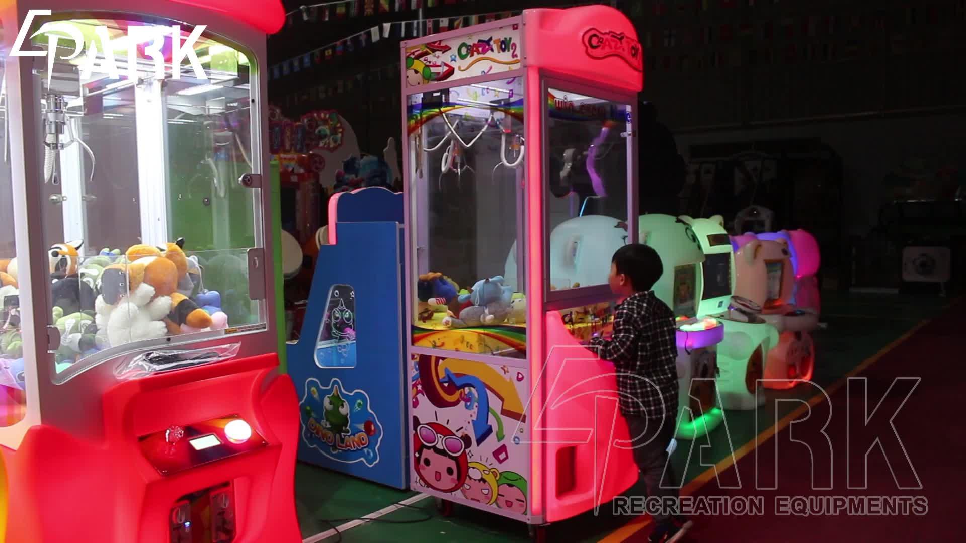 Crazy speelgoed 3 EPARK grijpen pop speelgoed gift game muntautomaat machine
