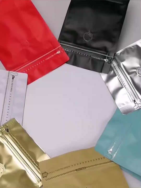 1 पौंड/500G लाल एल्यूमीनियम पन्नी कॉफी वाल्व Ziplock बैग खड़े हो जाओ पन्नी कॉफी बीन्स पैकेजिंग बैग