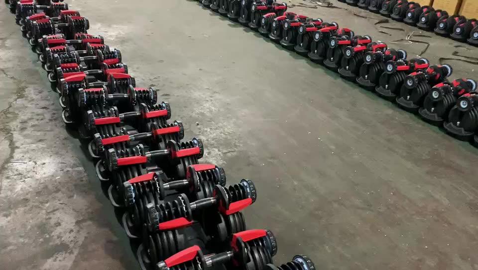 Fornecimento fabricante! Top Qualidade 24KG/40KG halteres, Halteres Ajustáveis, Logotipo Livre diretamente haltere 552/1090