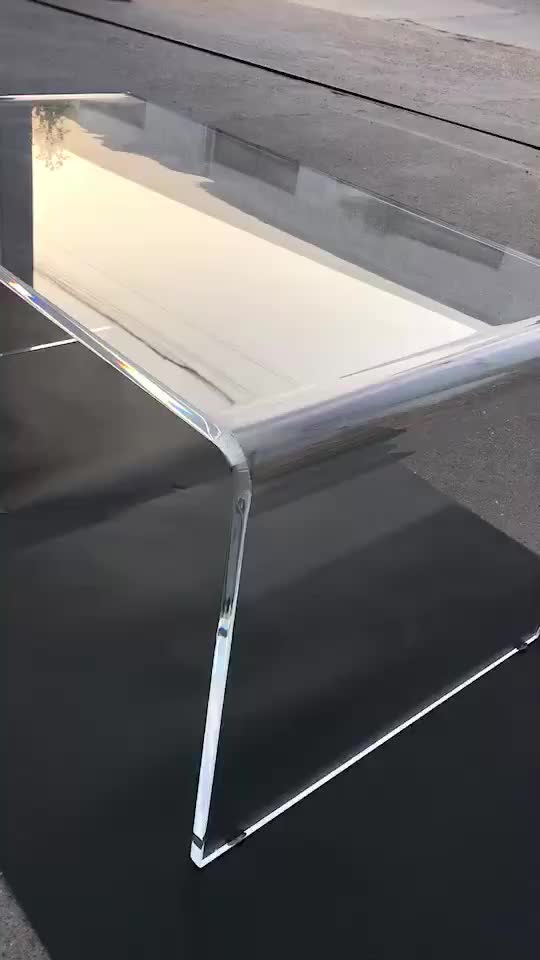 2018 hot China wholesale clear Acrylic Console computer coffee Table acrylic console table