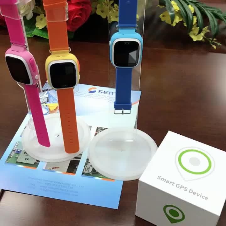 ساعة ذكية للأطفال من كيندر مزودة بنظام تحديد المواقع ومتتبع مزود بنظام تحديد المواقع mit LBS-جهاز تعقب للأطفال SOS Anruf