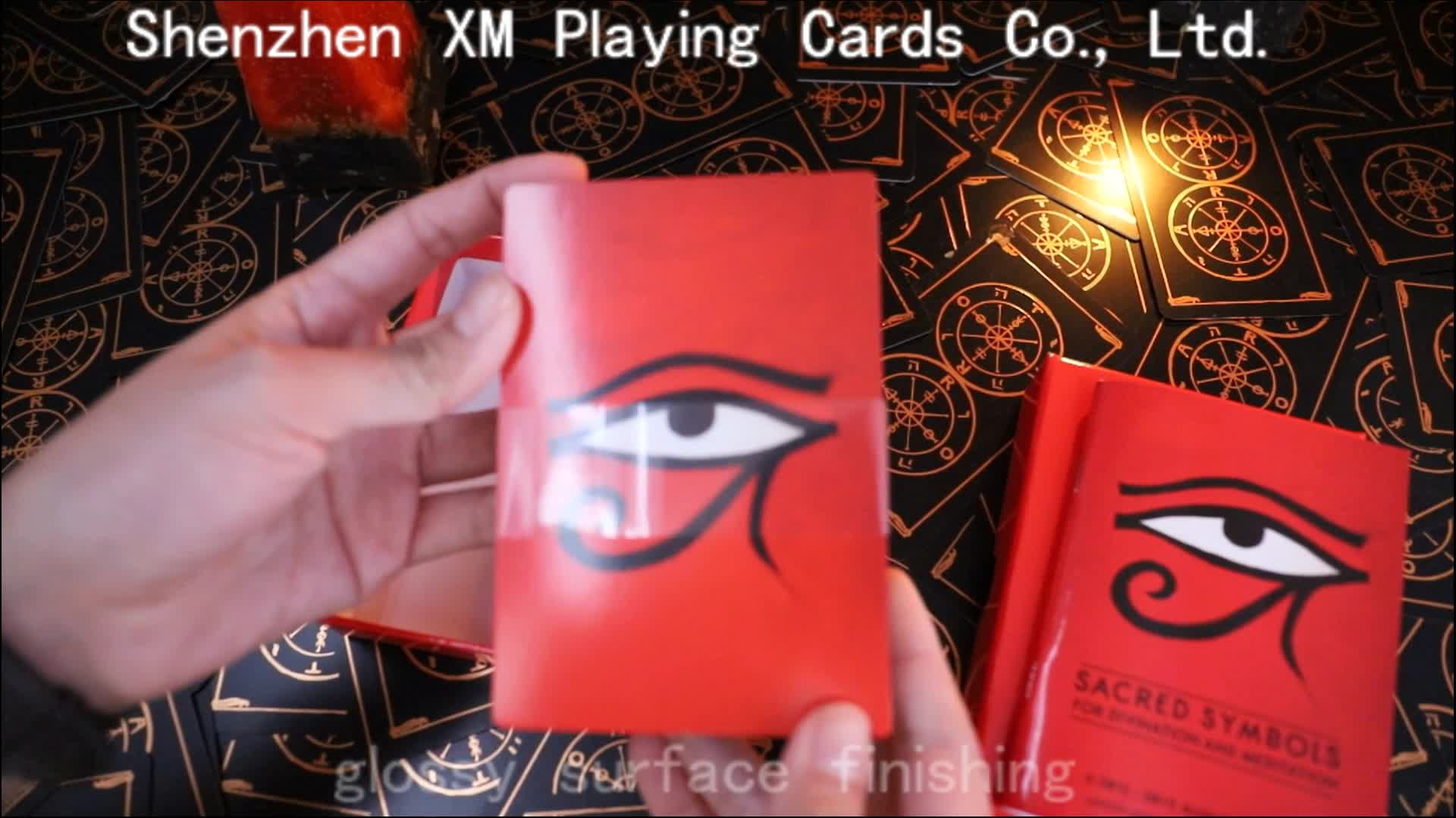 Custom Printing Art Paper Plastic Tarot Cards Decks With Silver Edges