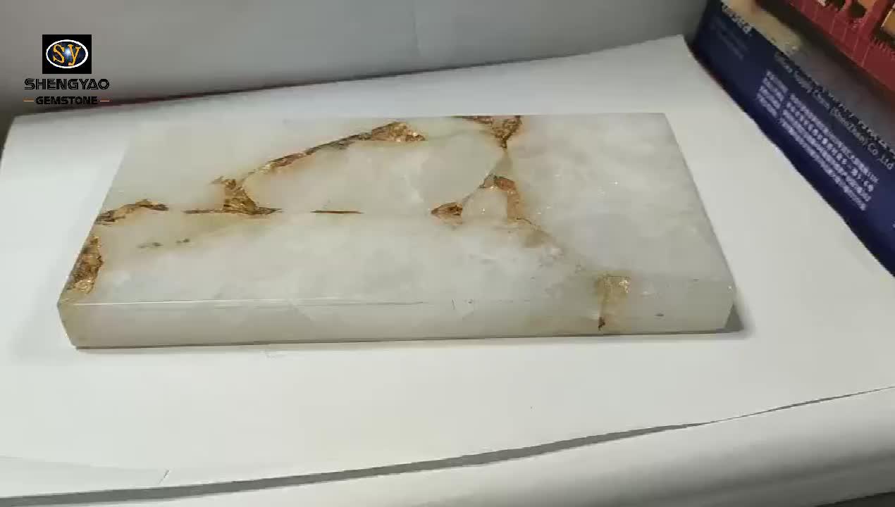 White crystal luxe tegels doorschijnende backlit stone onyx du brsil