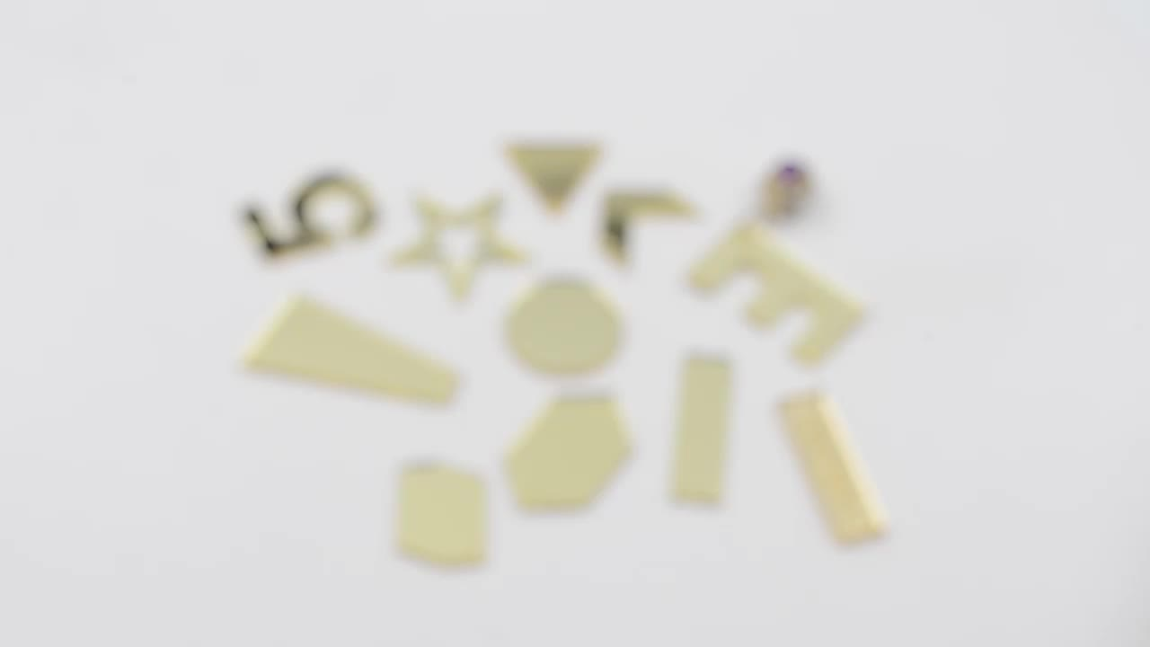 Sew on mirror flatback acrylic beads in all kinds of shapes and colours wholesale