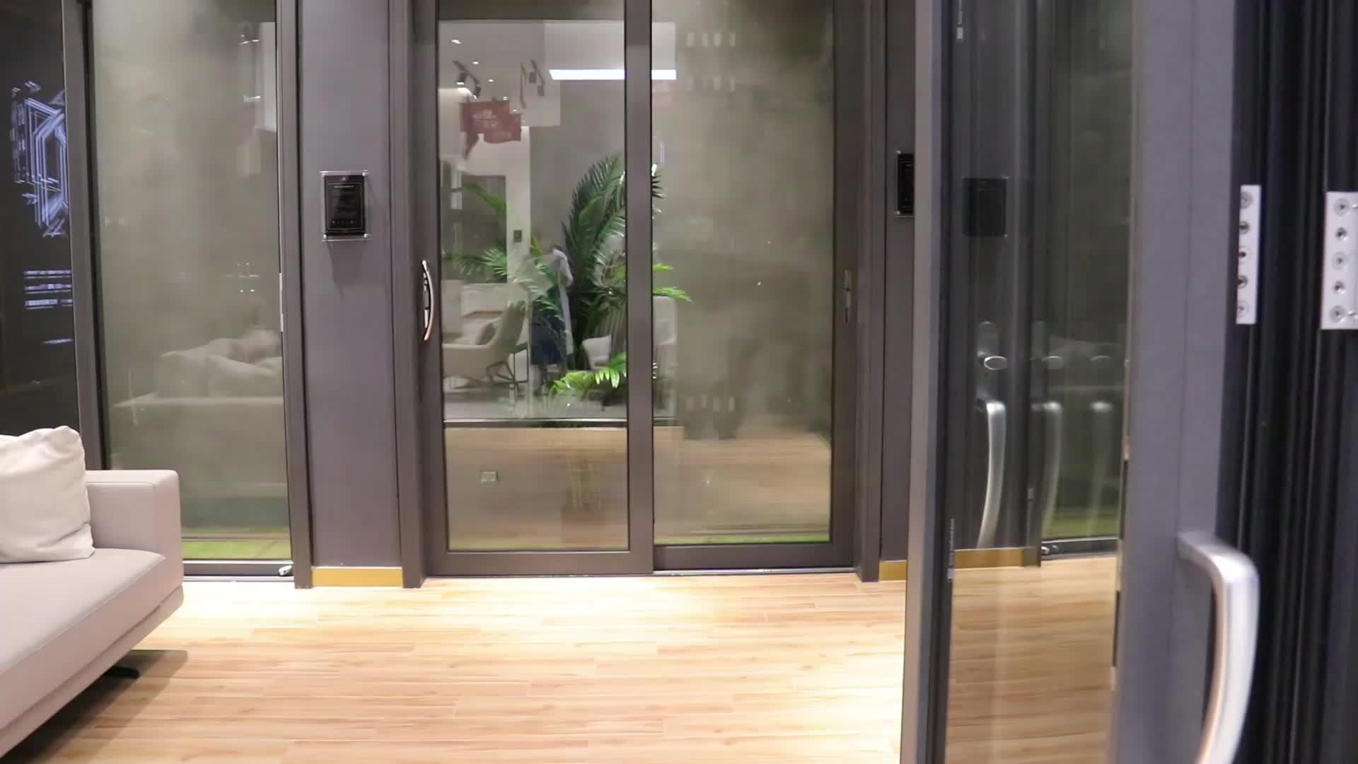 Personnaliser taille 136A pré assemblé essentielle en aluminium coulissante commerciale en verre vitrine porte