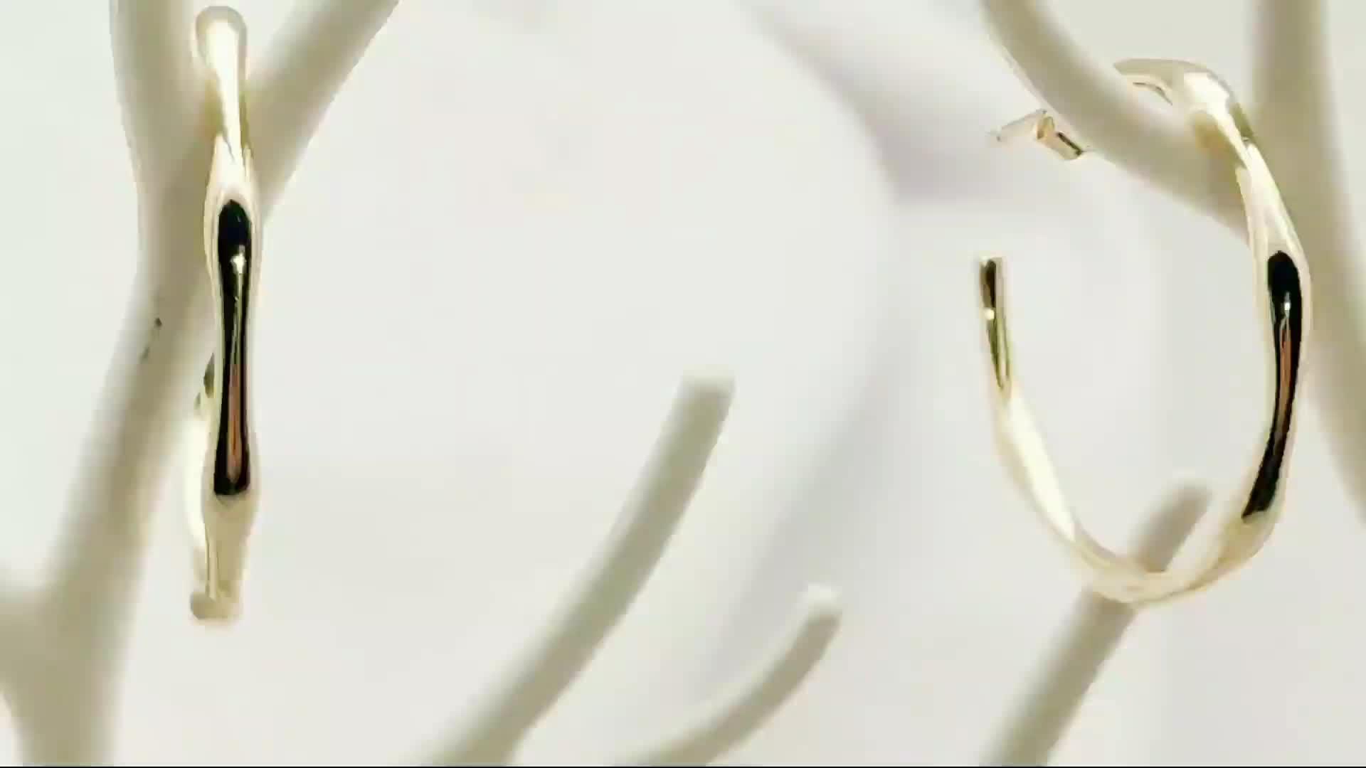 2019 daily สวมใส่เครื่องประดับ minimalist แฟชั่น 18 k gold ต่างหู big hoop
