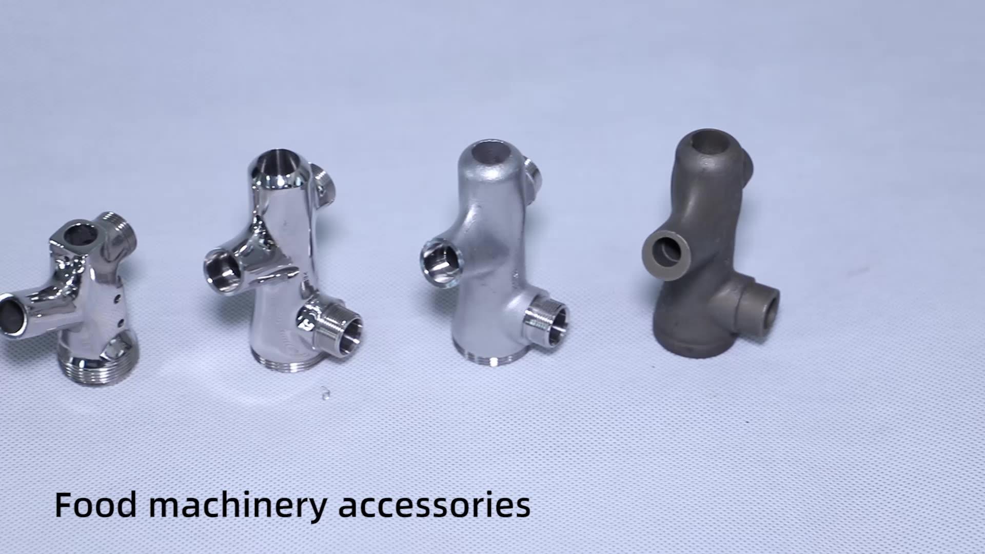 Hassas döküm cnc makinesi paslanmaz çelik bira musluk gıda makinesi parçaları