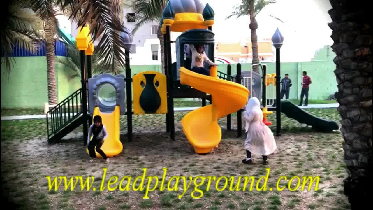 High Quality Custom Large Outdoor Climbing Playground With Slide
