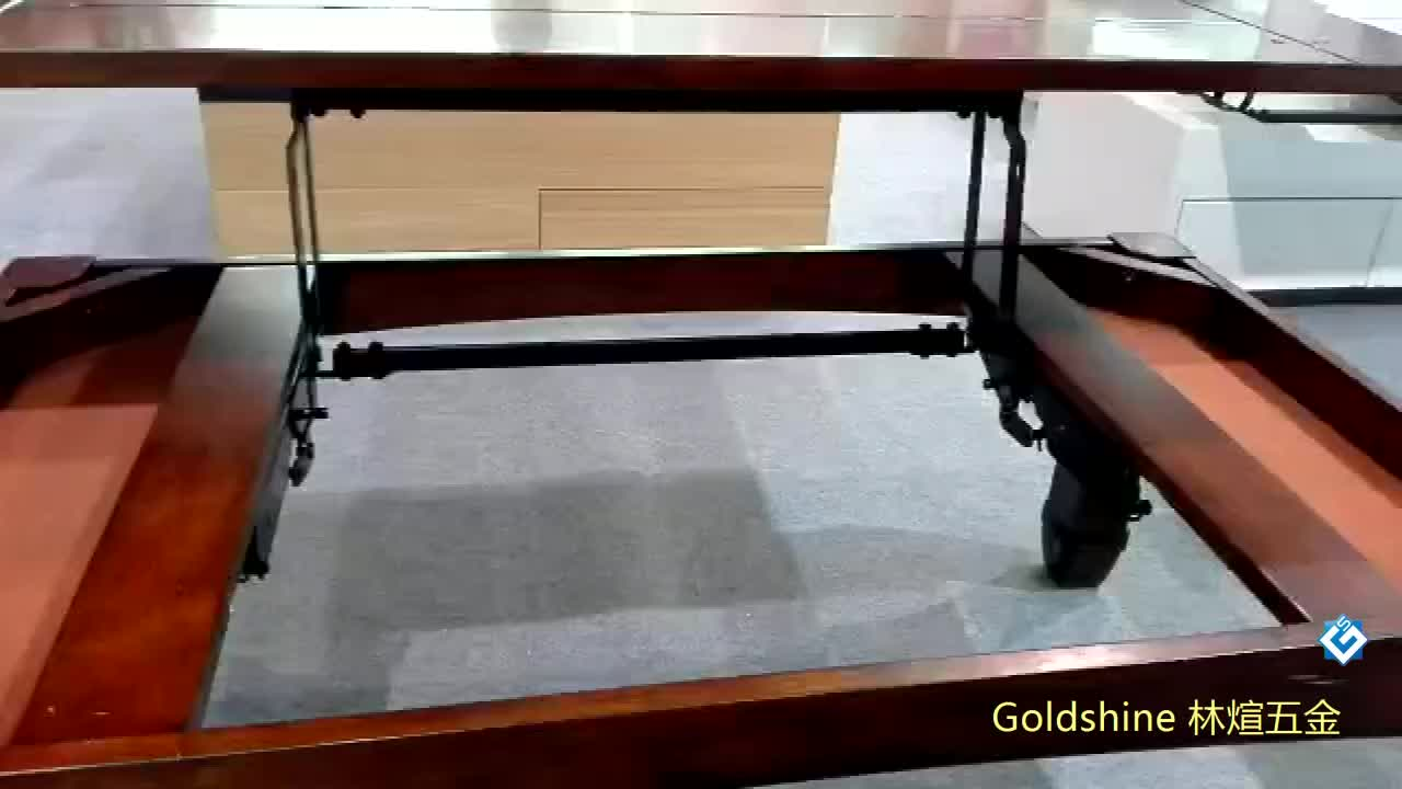 China Diy Convertible Table Mechanism Hardware Spring Black Lift Coffee Table Import Elevating Hinges