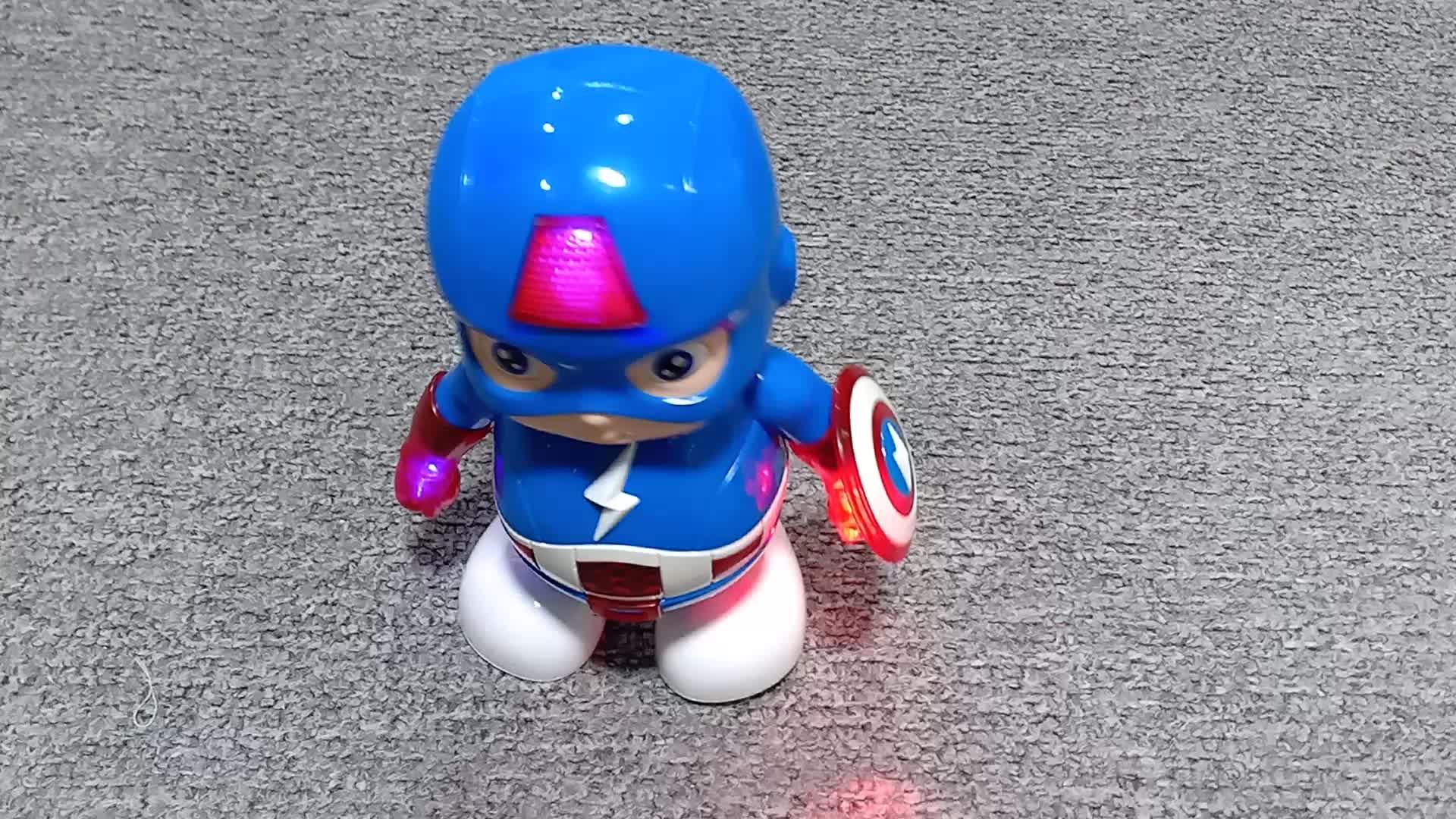 Figura de ação de super-heróis capitão américa dança do robô com luz e som personalizado liga de lenda