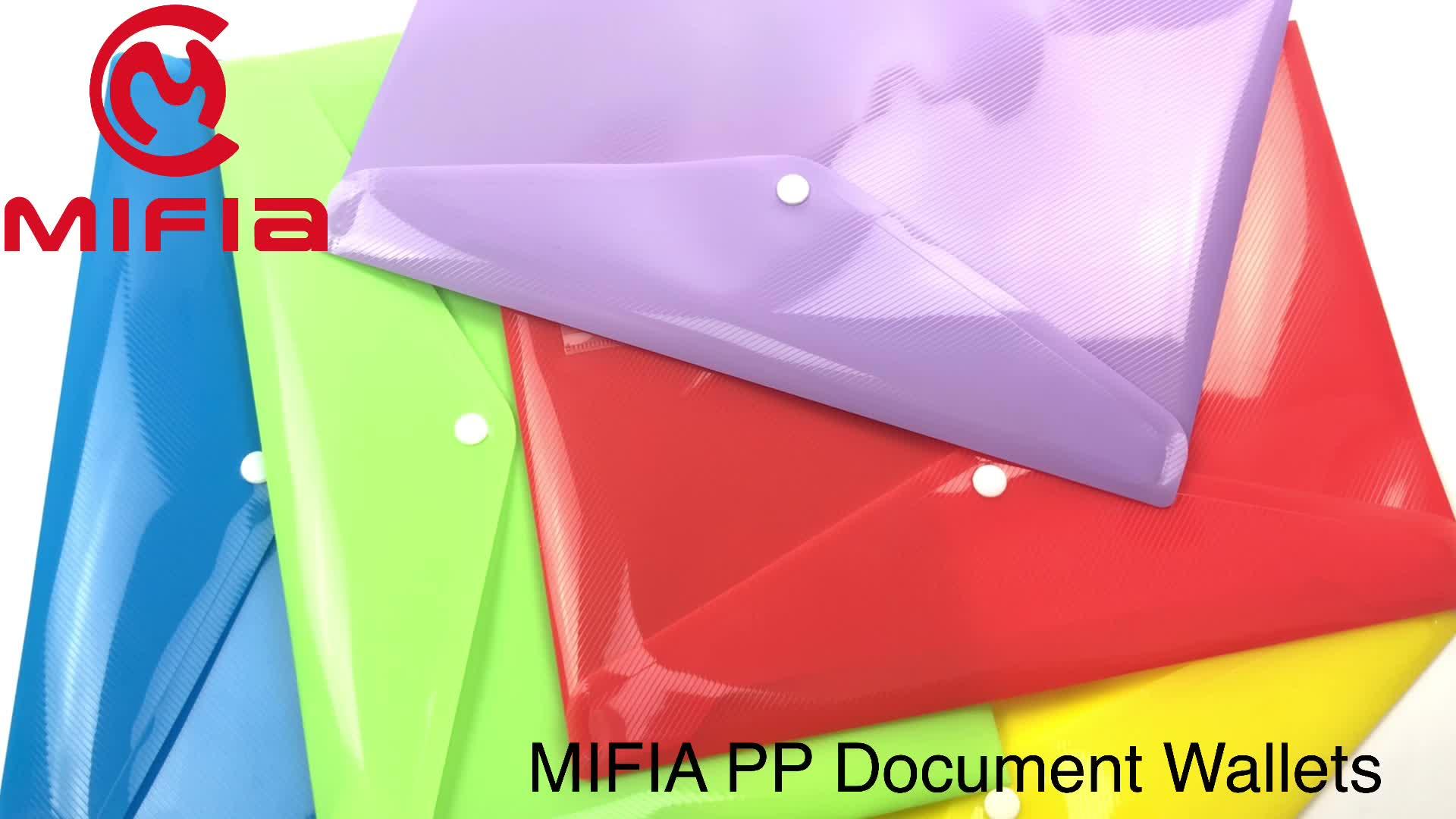 MIFIA filing producten a4 clear plastic document poly drukknoop envelop zakken bestand map portemonnee