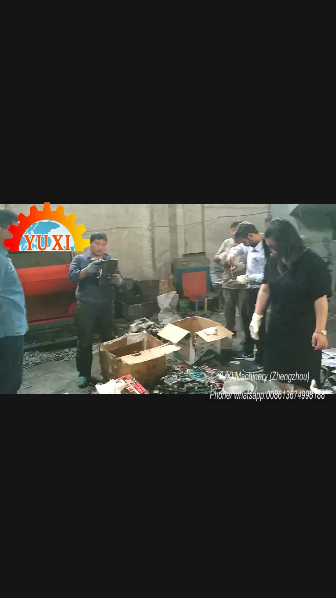 PCB altın kurtarma makineleri elektronik geri dönüşüm tesisi hurda E atık geri dönüşüm makinesi