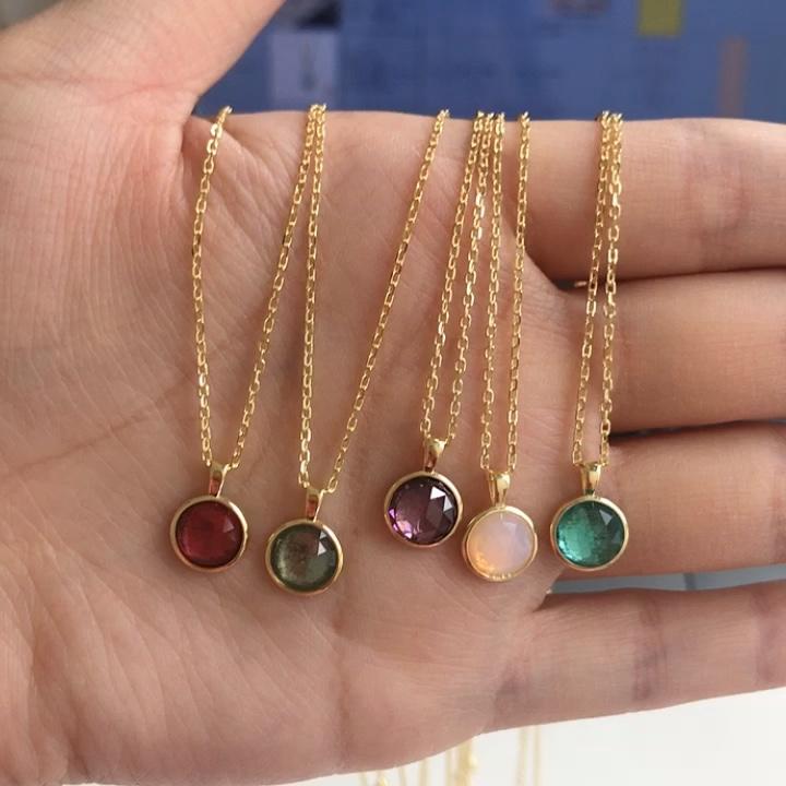 2020 nome personalizzato Delle Donne di disegno di compleanno di pietra collana di gioielli collana in argento sterling con 12 colori mese