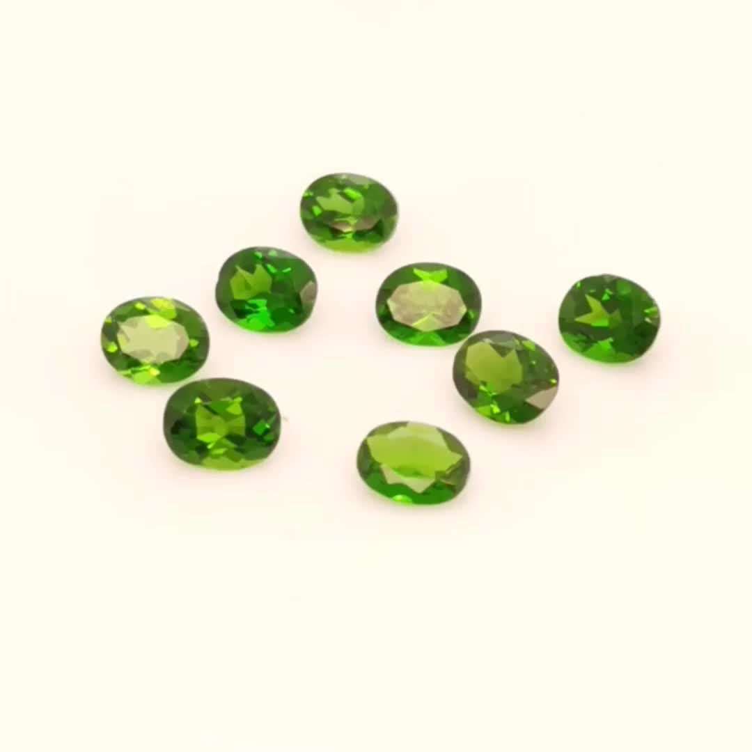 factory Large stock oval round pear  natural chrome  diopside loose gemstones