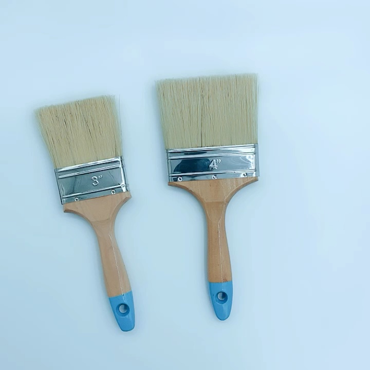 High quality white wooden handle flat paint brush sold well in Southeast Asian countries