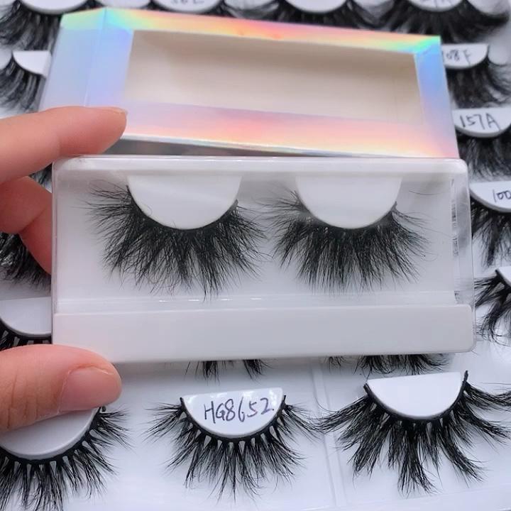 Manufacturer Vendors Supplies 25mm Mink eyelash vendor handmade 3d mink eyelashes with marble custom box your own brand