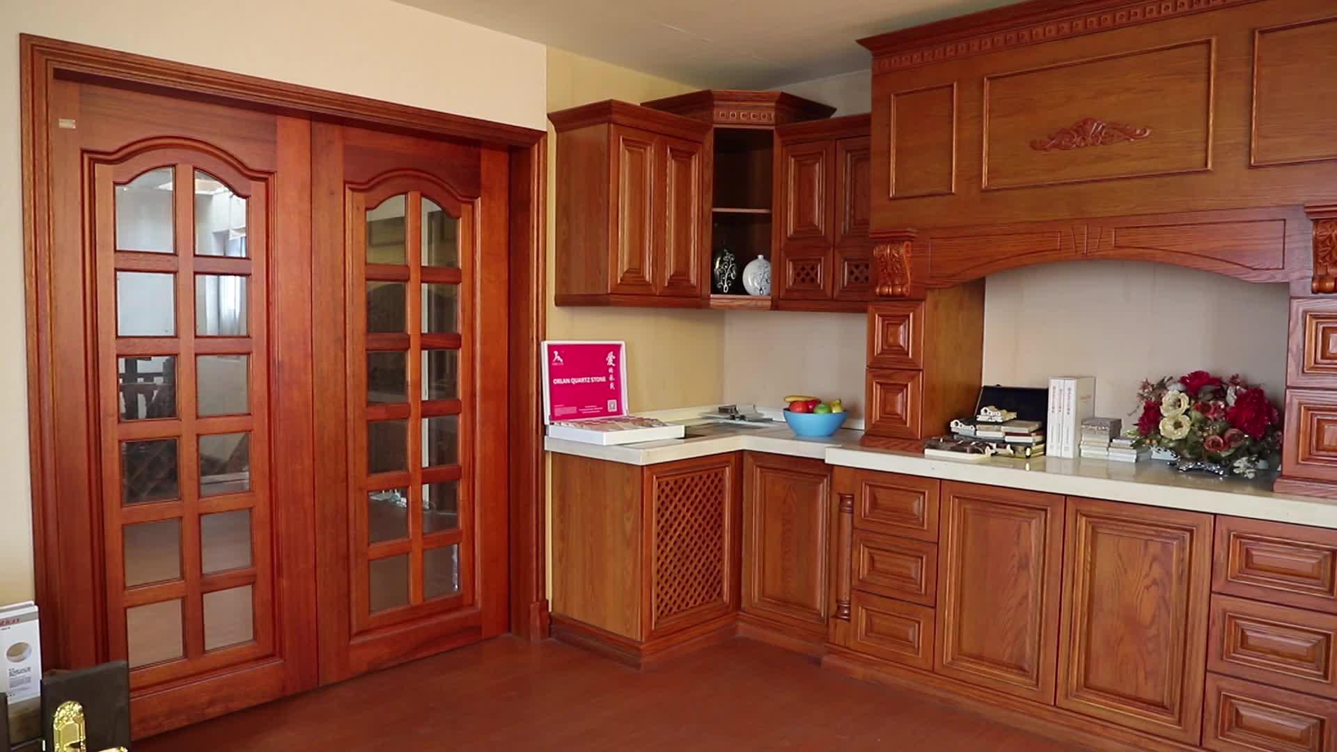 森雕木业专业供应工艺精品雕刻欧洲风格实木橱柜 整体橱柜