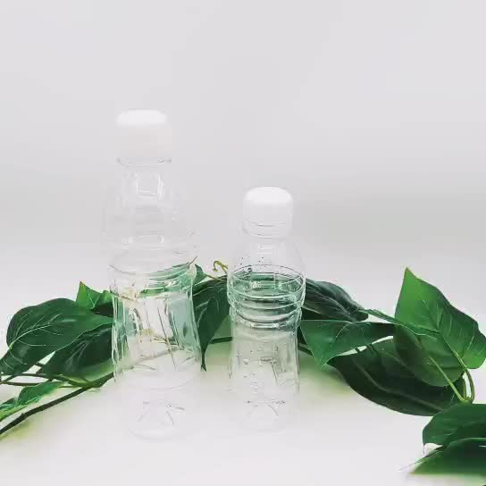 High Quality clear empty 450ML PET plastic water bottle for juice or beverage