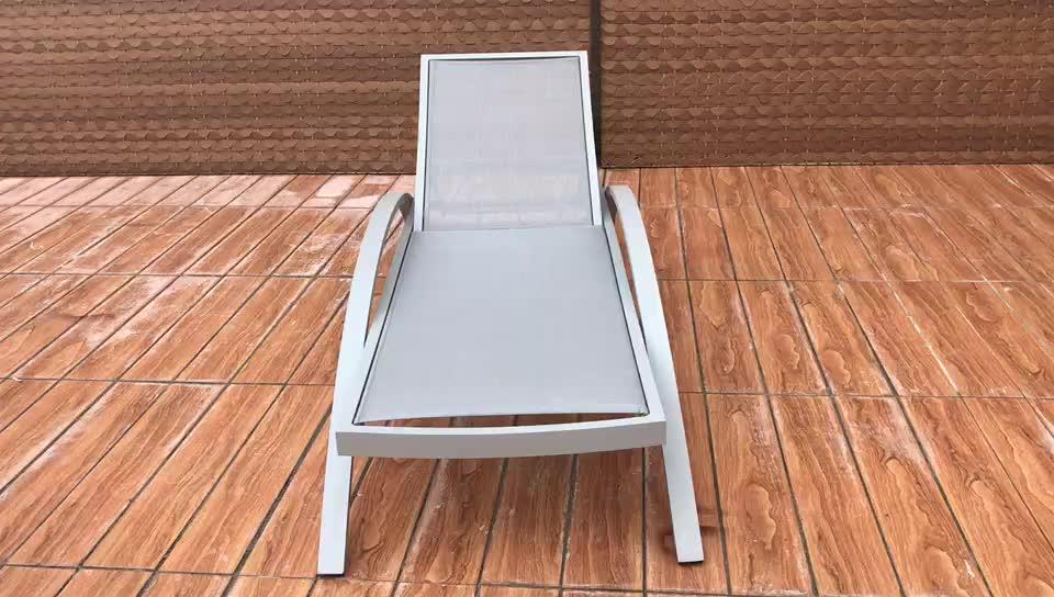 Hotel Outdoor Furniture Stackable textile Material Dimensions Beach Sun Lounger
