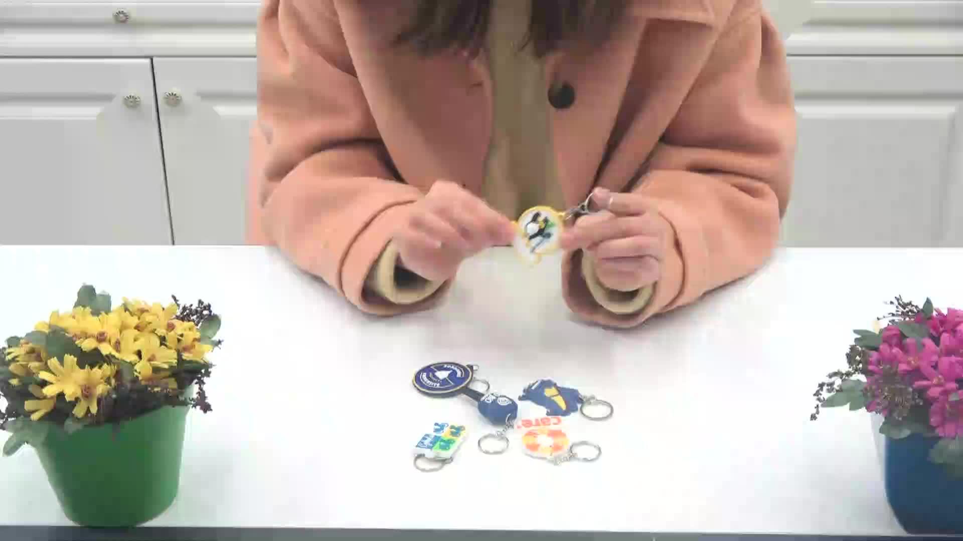 Hohe Qualität Weichen Silikon Schlüssel Kette Verschiedenen Form Pvc Schlüsselhalter