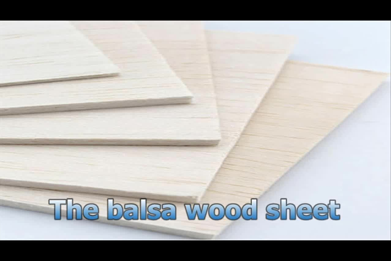 Free Sample 3mm thickness balsa wood lightest new material for model processing