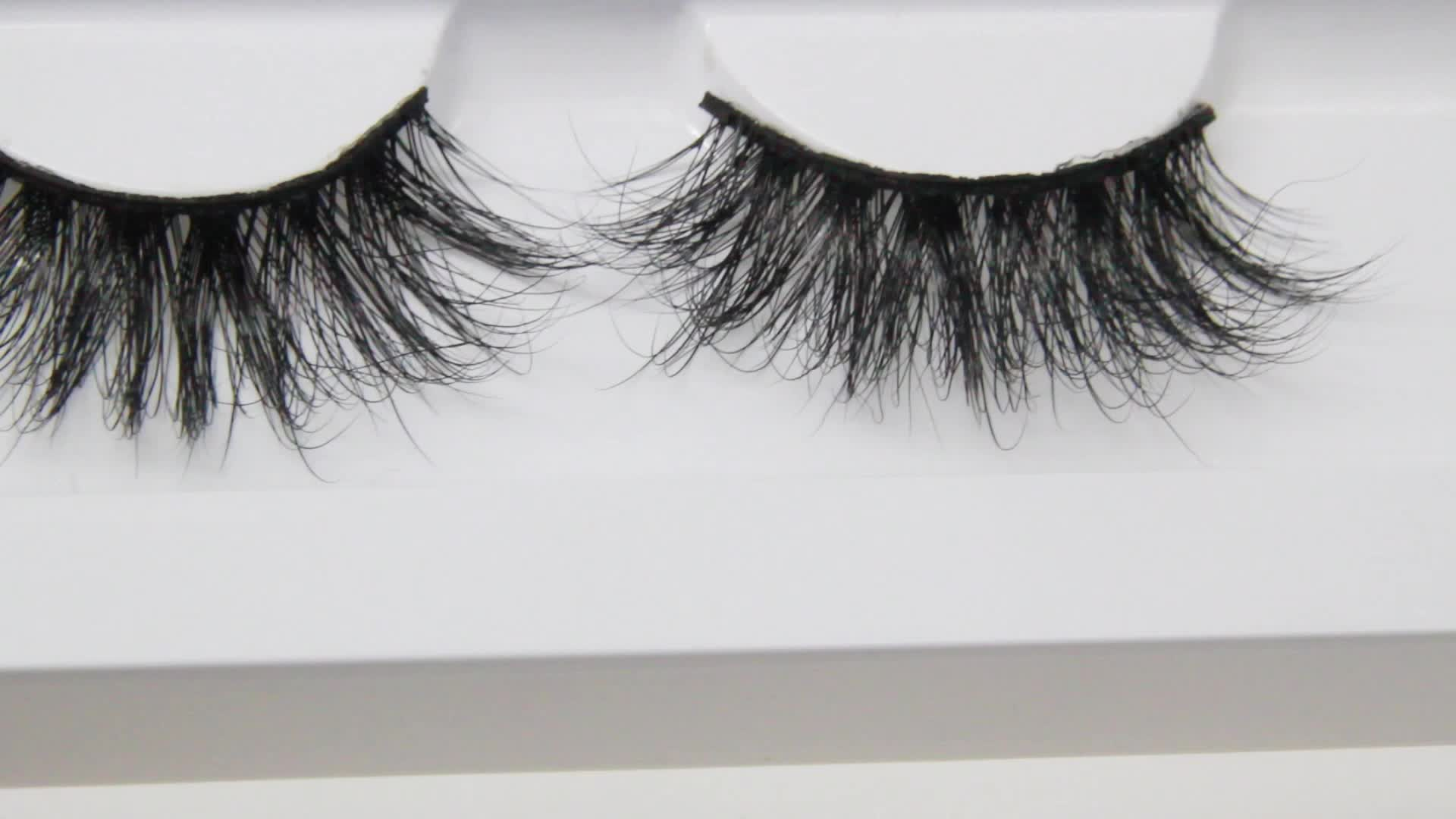 Private label 5d fluffy lashes 3D luxury dramatic real mink 25 mm eyelash