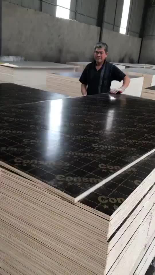 18mm marine plywood board, black/brown film faced plywood for construction
