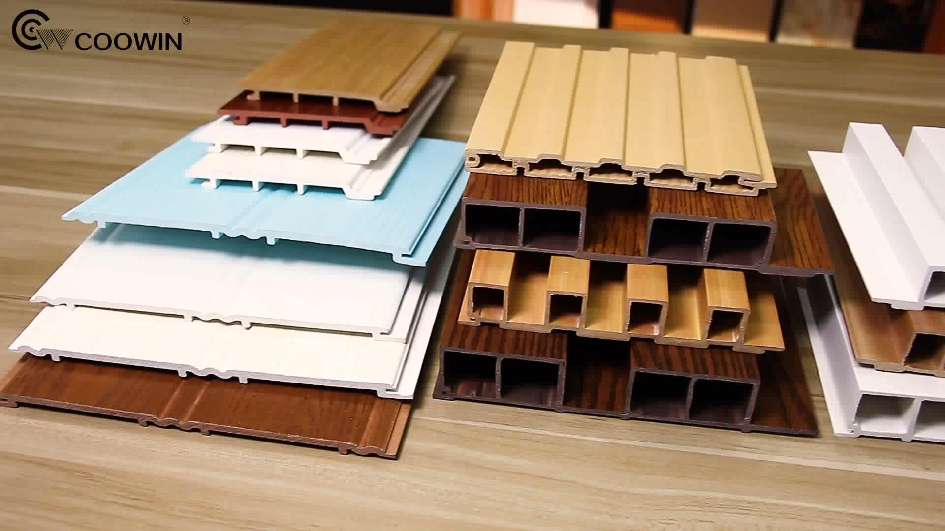 ألواح تركيب بلاستيكية وخشب مقاومة للماء WPC ألواح للحائط