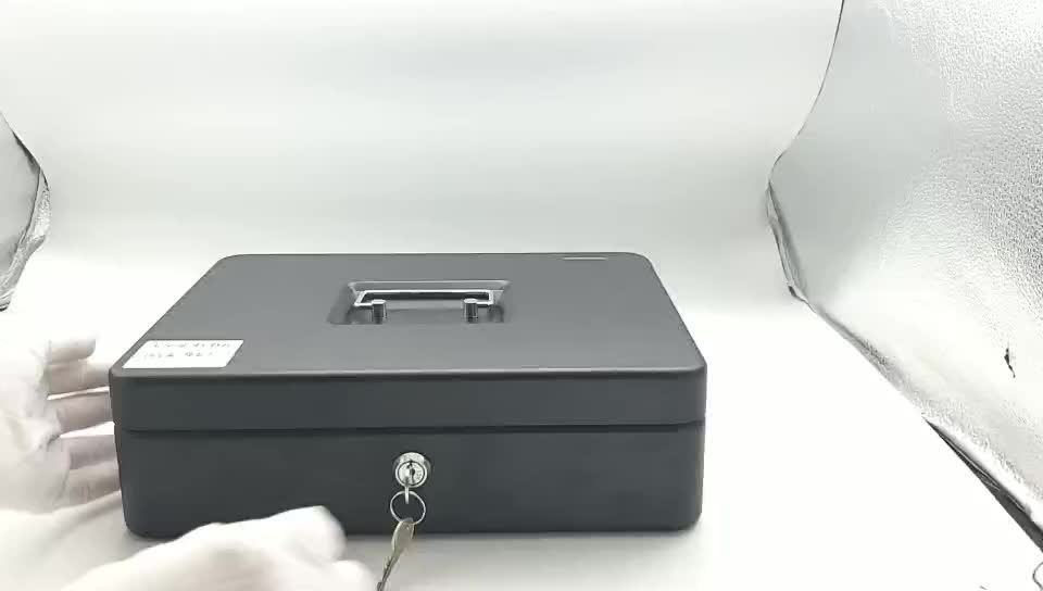 2018 china factory OEM metal cash box for money security