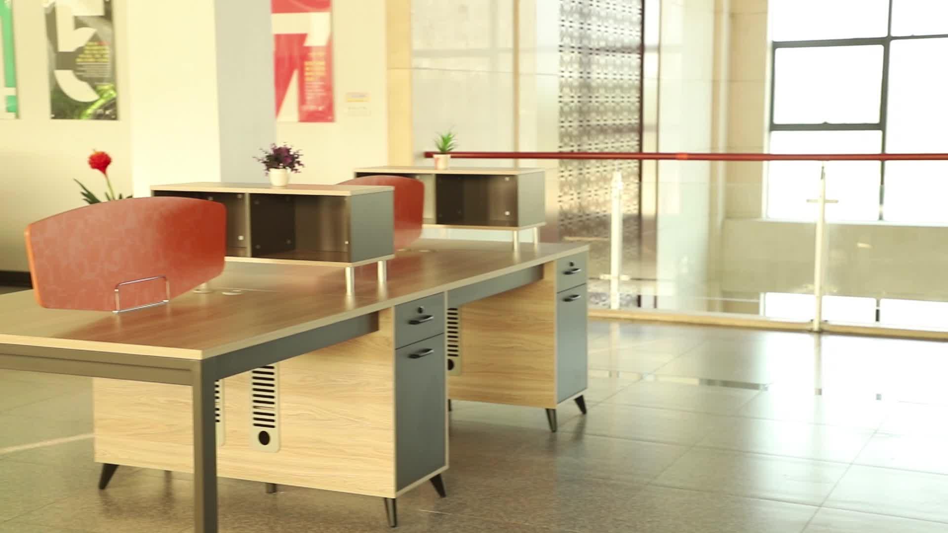 工場 Gcon ラミネートワークステーションオフィス 2 人デスクオーガナイザー