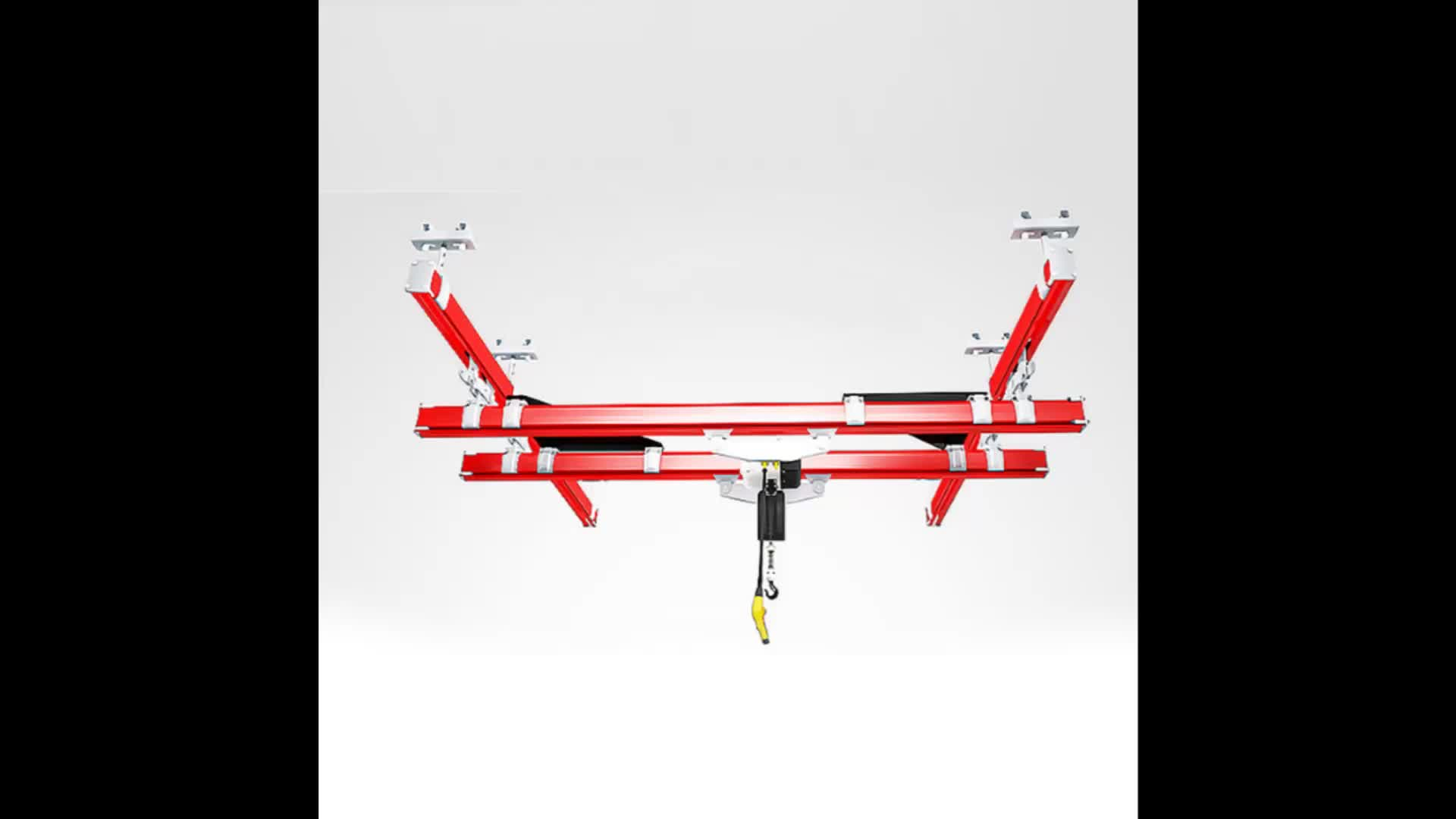 2.5 ton Monorail Smart Overhead Crane of I Beam Track with Chain Hoist and Rail Switch