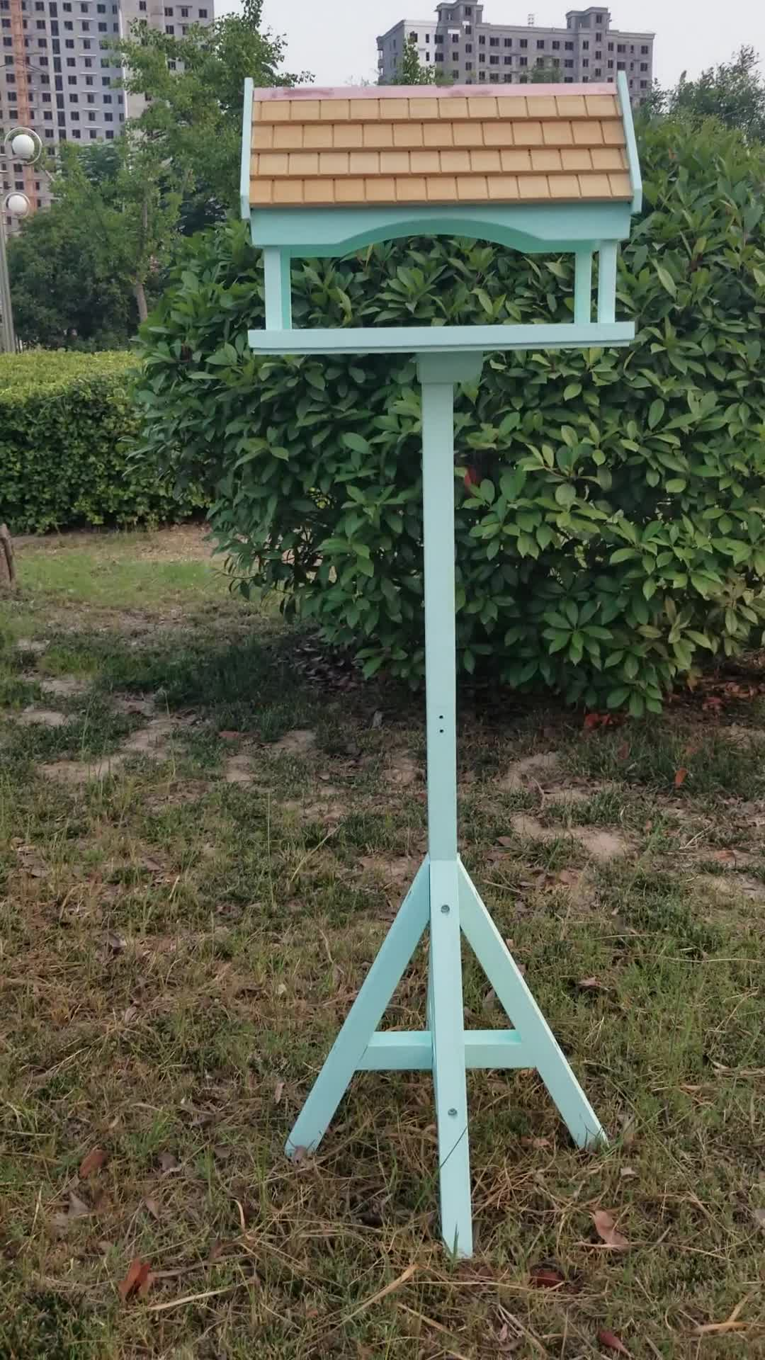 Painted Assembled Wooden Bird Table